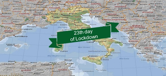 23th day of lockdown in Italy